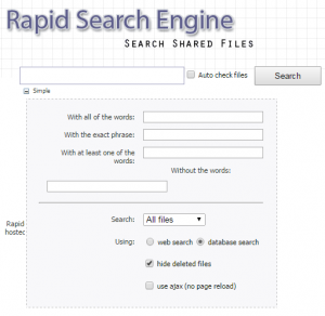 Uploaded Suchmaschinen: Rapid-Search-Engine