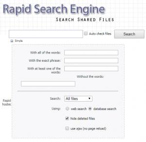 Uploaded Suchmaschinen: Rapid-Search-Engine