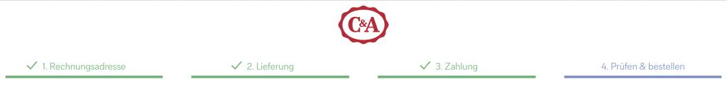 C&A Bestellschritte