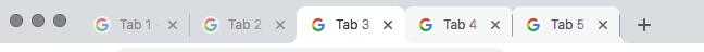Chrome mit 3 Tabs
